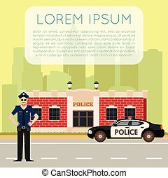 Police department banner8 - Vector image of the Police...