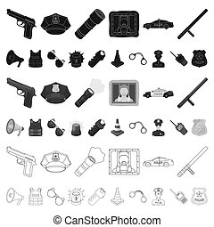 Police, Department cartoon icons in set collection for...