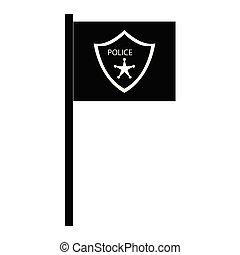 police department flag icon vector illustration design
