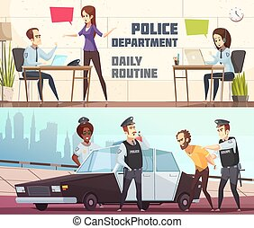 Police Department Horizontal Banners - Police department and...