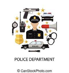 Police Department Round Design - Police department round...