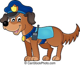 Police dog theme image 1 - eps10 vector illustration.