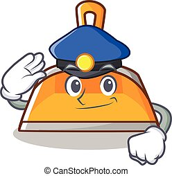 Police dustpan character cartoon style vector illustration