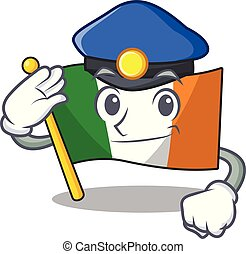 Police flag ireland isolated with the cartoon vector ...