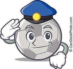 Police football character cartoon style