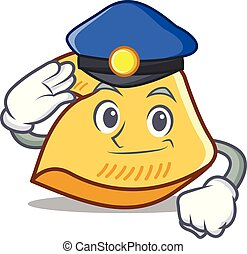 Police fortune cookie character cartoon