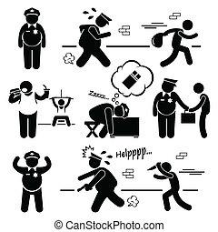 police, graisse, clipart