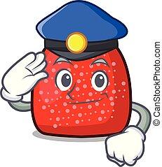 Police gumdrop character cartoon style vector illustration