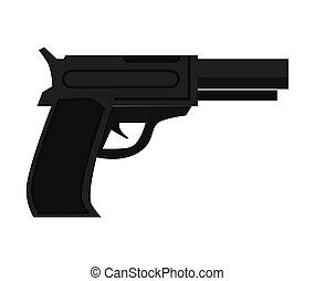 Police gun cop automatic pistol realistic vector ...
