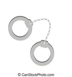 police handcuffs isolated icon