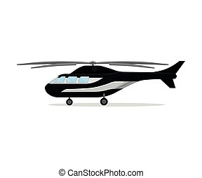Police helicopter. Vector illustration on a white background.