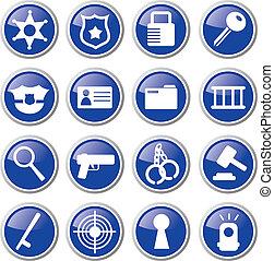 police icon set