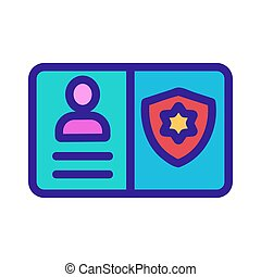 police ID icon vector. Isolated contour symbol illustration