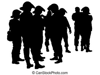 Police in uniform one - People of special police force on ...