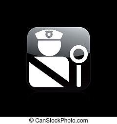 police, isolé, illustration, unique, vecteur, icône