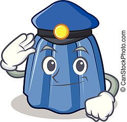 Police jelly character cartoon style