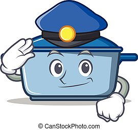 Police kitchen character cartoon style
