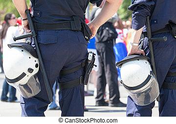 Police. Law enforcement.