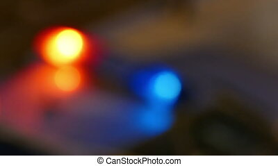 Police Lights Defocused