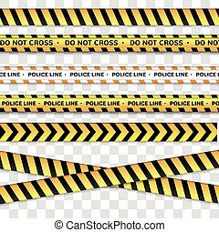 Police line and do not cross, Caution lines.