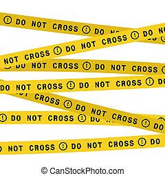 Police line do not cross tape. Vector flat style design illustration.