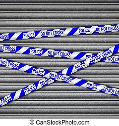 Police Line Metal Shutter