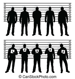 line up - police line up silhouettes
