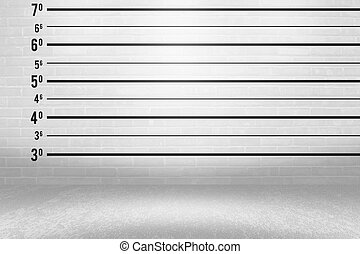Police Line Up Wall Backdrop