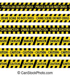 Police Line. - Vector illustration.