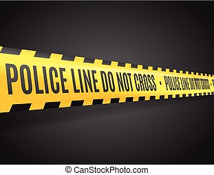 Police Line with Text Not Cross. Vector