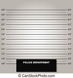 Police lineup or mugshot background vector