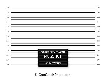 Police lineup or mugshot background. Vector illustration.