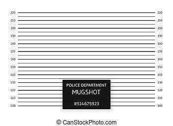 Police lineup or mugshot background. Vector illustration.