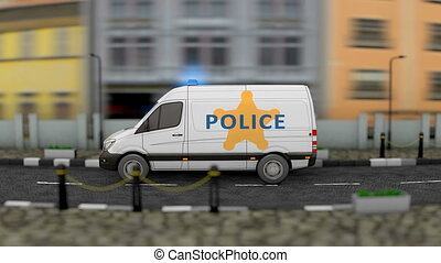 Police logistic van