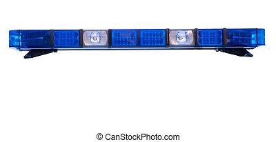 police, lumière secours, isolé, toit, barre