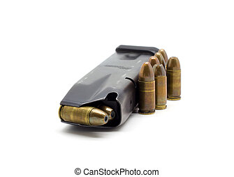 police, magazine, balles, 9mm