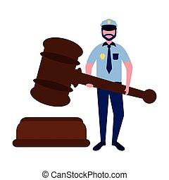 police man court hammer