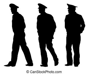 Police man - People of special police force on white ...