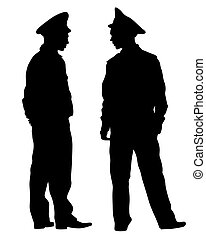 Police man two - People of special police force on white ...