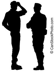 Police men force - People of special police force in uniform...