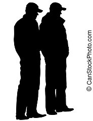 Police men on white background - People of special police ...
