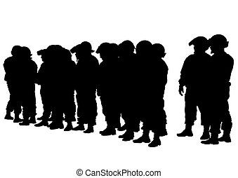 Police men on white - People of special police force on ...