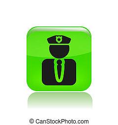 police, moderne, isolé, illustration, vecteur, icône