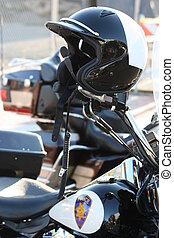 police, motocyclette