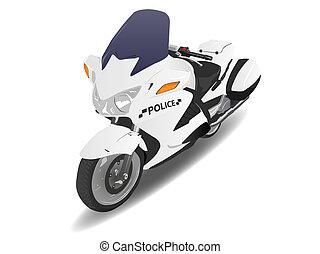 Police Motorcycle Motor Bike Illustration