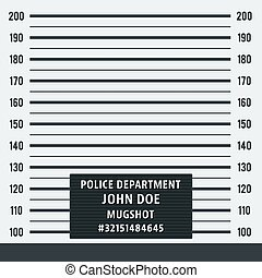 Police mugshot background - Police mugshot. Police lineup on...