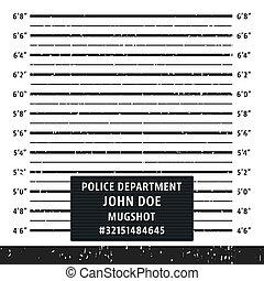 Police mugshot lineup board - Police mugshot board template....