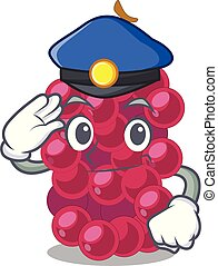 Police mulberry fruit on a cartoon table vector illustration