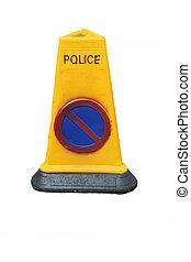 Police no parking cone