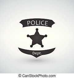 Police officer badge icon vector